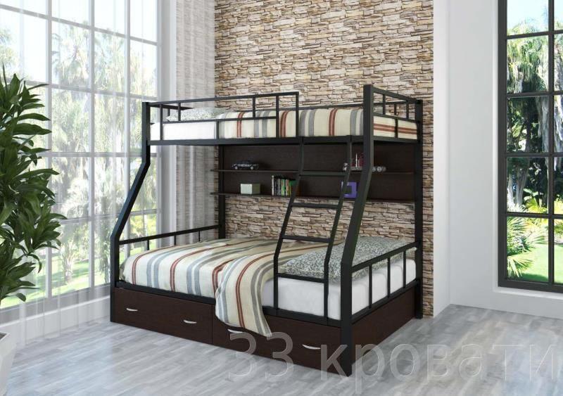 как собрать двухъярусную кровать с ящиками инструкция
