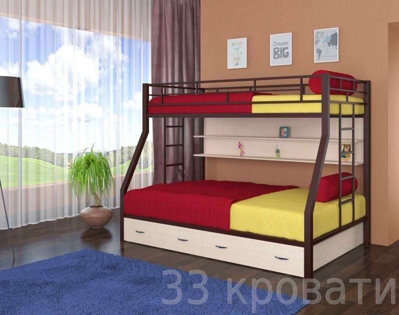 Металлическую двухъярусную кровать милан