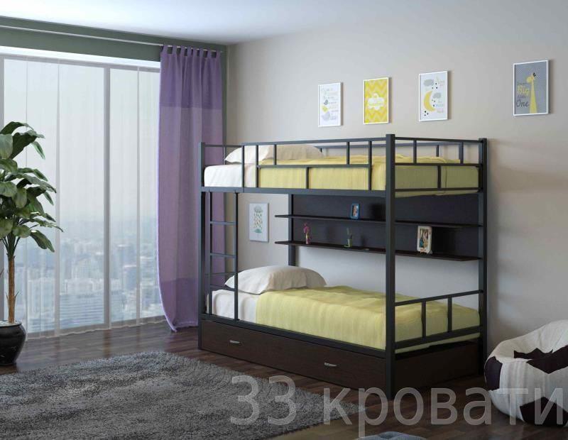 схема сборки двухъярусной кровати своими руками